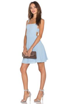 8e6875c54711 NBD x Naven Twins Take Care Apron Front Dress in Sky Blue | REVOLVE $125  Take