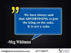 Quote of the day... #inspiration #advertising.... Icing on the Cake.....