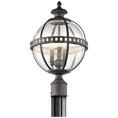 "Kichler Halleron 20 1/4""H Seedy Glass Outdoor Post Light - #8K069 | Lamps Plus"