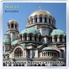 $3.29 - Acrylic Fridge Magnet: Bulgaria. Alexander Nevsky Cathedral. Sofia