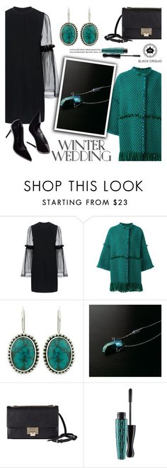 """True Romance: Winter Wedding"" by helenevlacho ❤ liked on Polyvore featuring Mother of Pearl, Gianluca Capannolo, Jimmy Choo, MAC Cosmetics, contestentry, winterwedding and blackorquid"