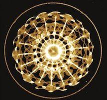 Photo Lauterwasser onde d'eau stimule par une fréquence de 35,1 hertz