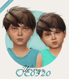 Simiracle: Wings OE0520 hair retextured - kids version  - Sims 4 Hairs - http://sims4hairs.com/simiracle-wings-oe0520-hair-retextured-kids-version/ The Sims 4 Pc, Sims 4 Teen, My Sims, Sims Cc, Sims 4 Toddler, Toddler Hair, Cabelo Sims, The Sims 4 Cabelos, Sims 4 Hair Male