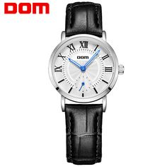 US $51.80 - DOM women luxury brand waterproof style quartz leather watches women fashion watch 2016 reloj G-3211L-7M