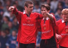 Inspirational: Gary Neville says he was 'invigorated' when Cantona told him they would win the Champions League