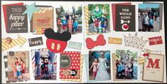 Disney 2-page Layout by Leslie Prinkki. Designer Templates used: Little Critter (Al La Carte) Arrows (1,2) & Enchanted (1,2,4) Paper Collection used: Say Cheese II - by Simple Stories  www.kiwilane.com #Disney #DisneyScrapbooking #DisneyMoments #HappiestPlaceOnEarth