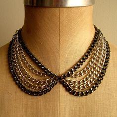 Peter Pan Layered Collar Necklace