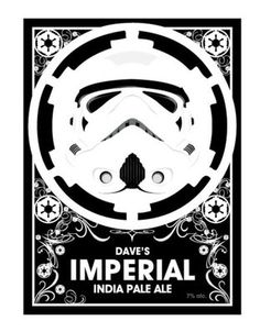 (via Dave's Imperial Beer Labels -... - Rebel Base - The Cool Stuff Star Wars Blog
