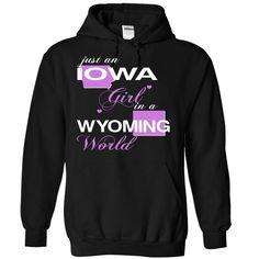 IOWA WYOMING GIRL T-Shirts, Hoodies. Check Price Now ==► https://www.sunfrog.com/Valentines/V5-2DIOWA-2DWYOMING-GIRL-Black-Hoodie.html?id=41382
