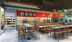 Panda Express test kitchen restaurant interior design
