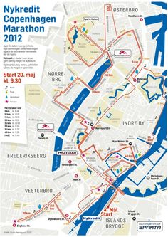 Running Route for the Copenhagen Marathon 2012 - amazing people