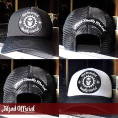 Official : Jihad Death Metal (Merch 2016) Trucker : The Brandal Death Metal (Full Patch) Color : Black & White Price : Rp. 100.000,- (Exclude Shipping) Order : 085222090666 / 085723321707 Pin : 2A1DF4D1 / 54C5312B Instagram : https://www.instagram.com/jihadeathmetal/
