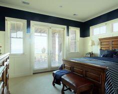 Interesting bedroom woodwork