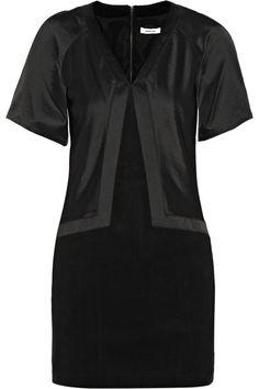 Helmut LangSatin and cotton-blend mini dressfront