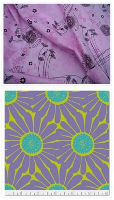 Field of Honey (Pink) and Daisy Chartreuse Prints