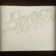 Barber & Anarchy (work in progress) #photooftheday#picoftheda #style#lif #art #signpainting #pinstriping #lettering #artstudio #inspiration #w_o_n_d_e_r_b_o_y #inktober #art_help #artwork #pencil #barbershop #barber #anarchy #lifestyle #sign #workinprogress #sketch
