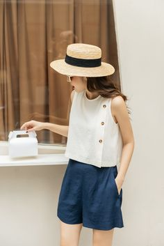Basic Outfits, Hot Outfits, Casual Outfits, Smart Casual Work Outfit, Traditional Dresses Designs, Fashion Pants, Fashion Outfits, Denim Jacket With Dress, Classy Casual
