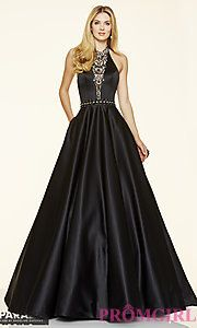 Buy Open Back Halter Ball Gown Style Prom Dress by Mori Lee at PromGirl