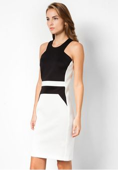 Panelled Midi Dress