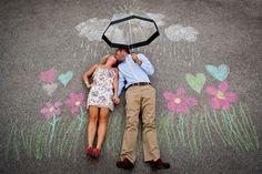 cute sidewalk chalk engagement photo. www.matushekphotography.com