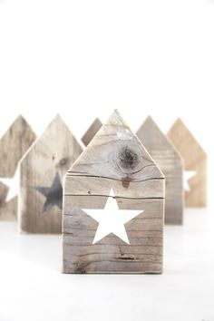 ❤️ DIY: wooden houses