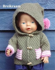 ideas for baby born kleertjes Knitting Dolls Clothes, Knitted Dolls, Doll Clothes Patterns, Doll Patterns, Baby Sweaters, Girls Sweaters, Crochet For Kids, Crochet Baby, Baby Knitting Patterns