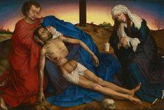 "Rogier van der Weyden: ""Pietà"" (The lamentation). Brussels, Royal Museums of Fine Arts of Belgium"