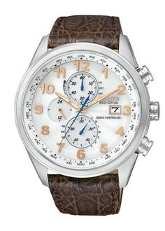 Citizen Men's AT8010-23A Eco-Drive Limited Edition World Chronograph A-T Watch Citizen. $506.25. Atomic timekeeping, the most accurate watch in the world. Water-resistant to 200 M (660 feet). Eco-drive is fueled by light so it never needs a battery. Automatic time in 26 world cities and radio-controlled in North America, United Kingdom, Europe, Japan and China. Sapphire crystal. Save 25% Off!