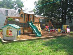 Elegant Small Backyard Playground Ideas Small Backyard Landscaping Ideas For Kid. - Elegant Small Backyard Playground Ideas Small Backyard Landscaping Ideas For Kids With Playground S - Kids Backyard Playground, Backyard Playset, Playground Set, Backyard For Kids, Backyard Projects, Backyard Ideas, Garden Ideas, Diy Projects, Small Backyard Landscaping