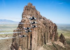 Look At These Striking Images Of The Thunderbirds Soaring Over Telluride