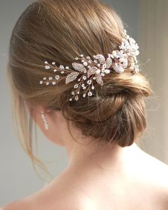 Camille Floral Back Comb Bridal hair accessories Bridal hair comb headband Hair . Camille Floral B High Bun Hairstyles, Fall Wedding Hairstyles, Prom Hairstyles For Short Hair, Short Pixie Haircuts, Short Wedding Hair, Headband Hairstyles, Bridal Hairstyles, Hair Pieces For Wedding, Bridal Hair Half Up