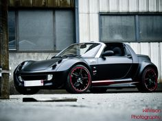 Matte Black Smart Roadster by ood'X by William WillVision Guillon