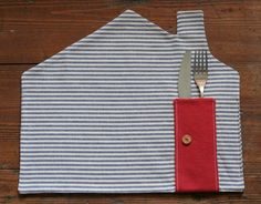 DIY sew l placemat blue | REPINNED