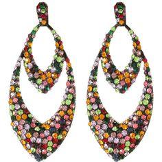 Amrita Singh Crystal Chandelier Earrings ($20) ❤ liked on Polyvore featuring jewelry, earrings, jewelry & watches, nocolor, amrita singh jewellery, amrita singh, amrita singh earrings and amrita singh jewelry