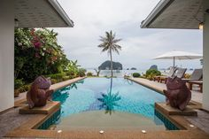 Sea View Villa With Private Pool - Villaer til leie i Khao Thong