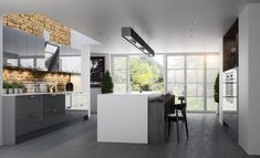 kitchen collection bespoke designs from stori contemporary zola gloss range dust grey Grey Kitchens, Bespoke Kitchens, Cool Kitchens, Fitted Kitchens, Modern Kitchens, Home Decor Kitchen, Diy Kitchen, Kitchen Ideas, Kitchen Depot