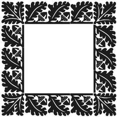 Vintage oak leaf and acorn frame - border