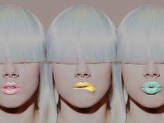 pastel lips (lipstick, makeup, make-up, make up)