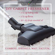 DIY Carpet Freshener with essential oils.