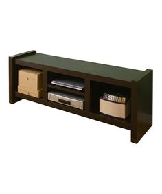 Take a look at this Cappuccino 60'' Modern Entertainment Console by Furniture of America on #zulily today!