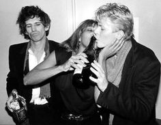 Keith, Tina Turner and David Bowie... The Ritz, NYC - January 1983 © Bob Gruen