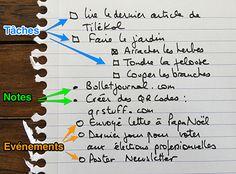 Une explication  très bien faite (en français) du BuJo