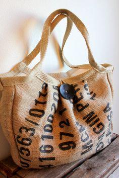 EcoFriendly Burlap Coffee Sack Bag/CarryAll/Diaper by Burlabags
