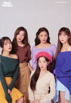 "Red Velvet is a South Korean girl group formed by SM Entertainment. The group debuted on August with the digital single ""Happiness"" and four group members: Irene, Seulgi, Wendy and Joy. K Pop, Kpop Girl Groups, Korean Girl Groups, Kpop Girls, Red Velvet Seulgi, Red Velvet Irene, Red Velvet Joy, Pink Velvet, Princesses"