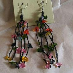 Earrings Colorful lightweight beaded earrings on thread Jewelry Earrings