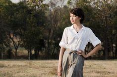Magnolia White Cotton Shirt