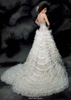 Maria Karin Couture 2011 pengantin koleksi gaun - gaun pengantin strapless dengan rok ruffle dramatis