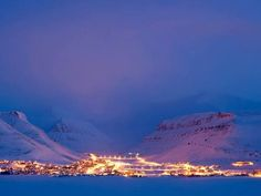 mountain, night, and norway image