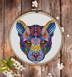 This is modern cross-stitch pattern of Mandala Panter for instant download. You will get 7-pages PDF file, which includes: - main picture for your reference; - colorful scheme for cross-stitch; - list of DMC thread colors (instruction and key section); - list of calculated