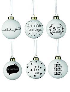WEIHNACHTSZAUBERKUGELN Sortiment weiß/schwarz 18 Stück Christbaumkugeln Weihnachtskugeln Glas Räder: Amazon.de: Küche & Haushalt